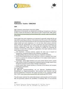 Austria - Publications 2009-2010 Observal