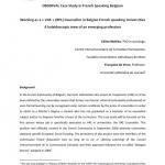 Belgium - Case Study in French Speaking Belgium