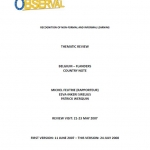 Belgium - Recognition of non-formal and informal learning: Thematic Review – Flanders country note