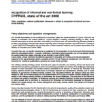 Cyprus - Recognition of informal and non-formal learning