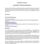Germany Case Study 1 Accreditation, professional competences