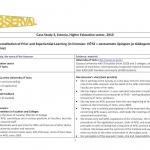 Estonia - Case Study 3, Estonia, Higher Education sector, 2010