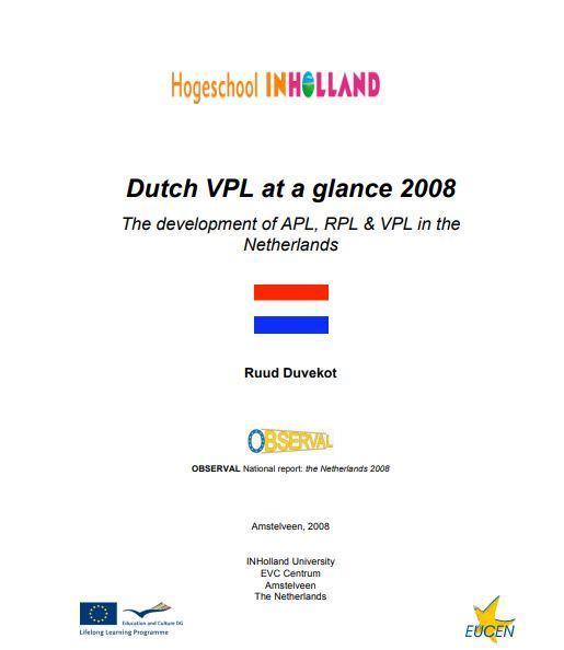 Netherlands - Formal Documents 2008 5 (APL, RPL & VPL in the Netherlands)