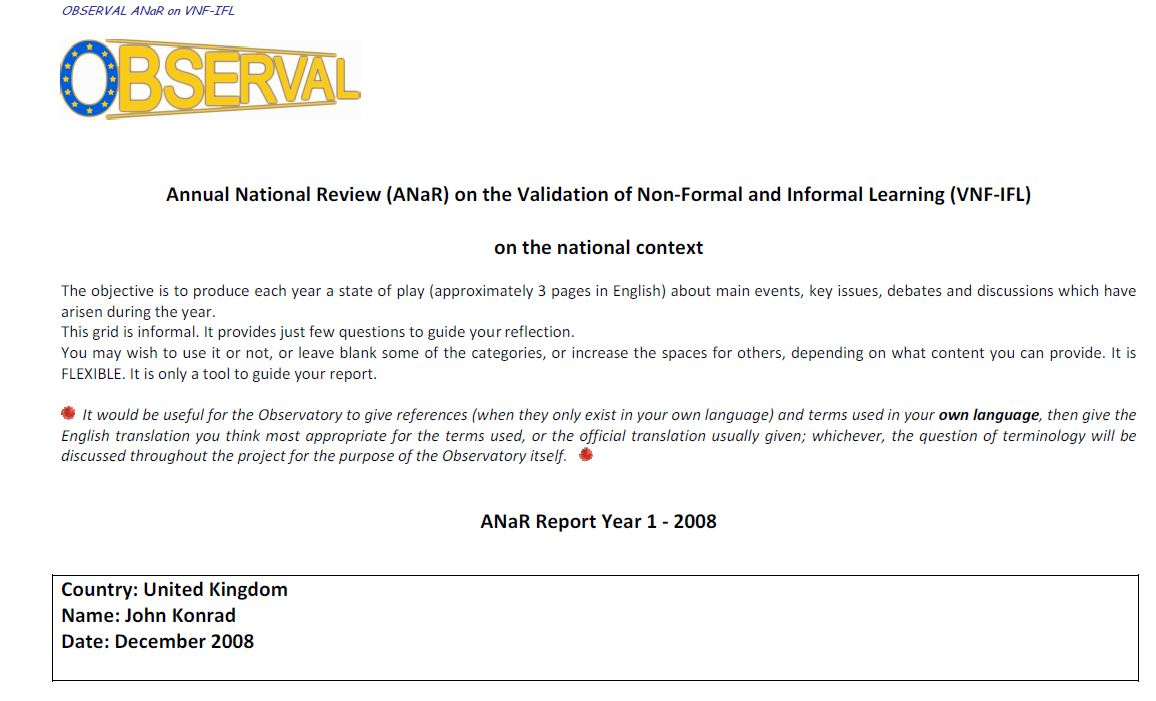 UK - Annual National Report 2008