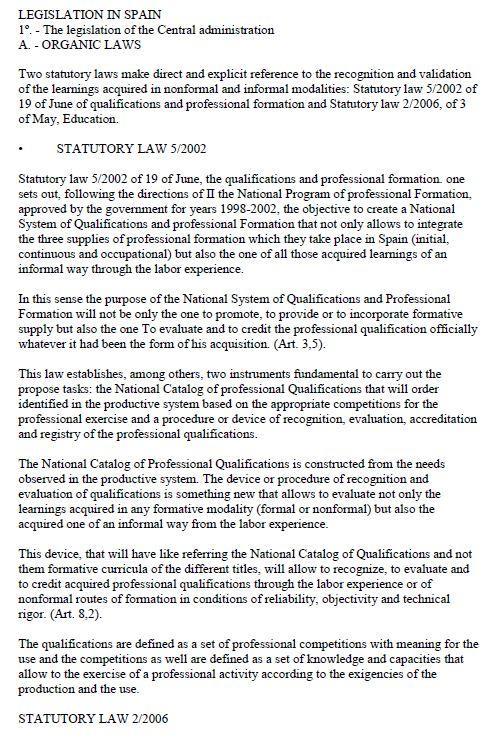 Spain - Formal Documents 1 2008 (Legislation)