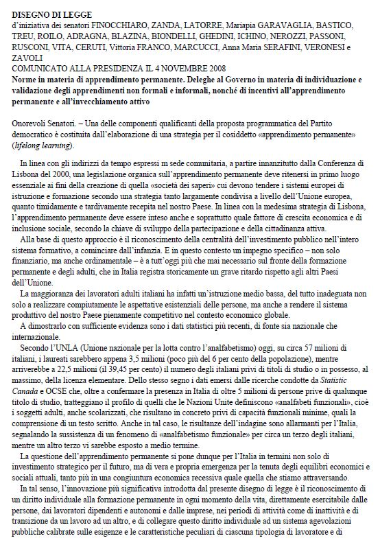 Italy - Formal Documents 4 - Law Design (Italian)