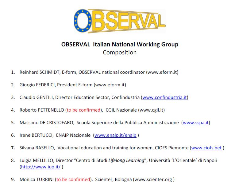 Italy - National Working Group