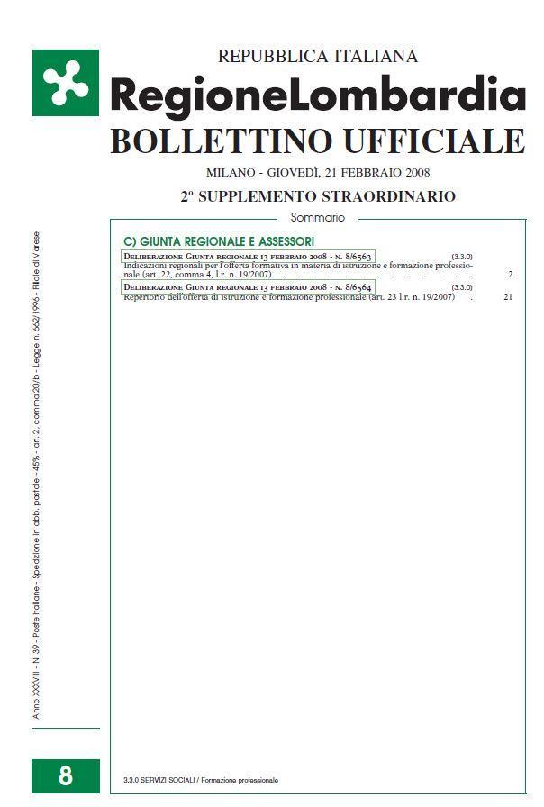 Italy - Formal Documents 12 - Bollettino Lombardia_Dgr6563_13-2-08