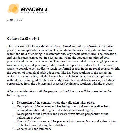 Sweden - Case Study 1 - Outlines