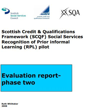 UK - Report on Scottish Social Work Council - Recognition of Prior informal Learning