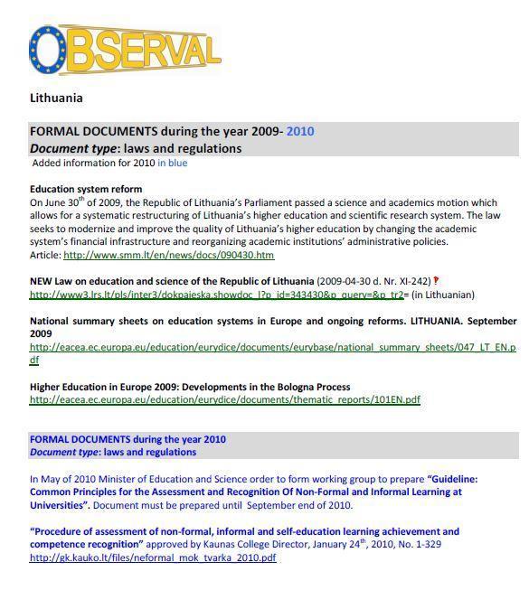 Lithuania - Formal Document 4 - Legislation 2009-2010