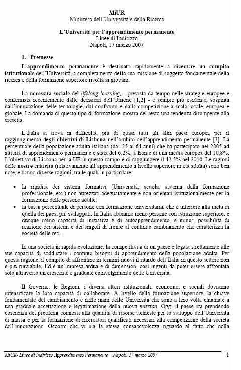 Italy - Formal Documents 3 - MIUR (Italian)