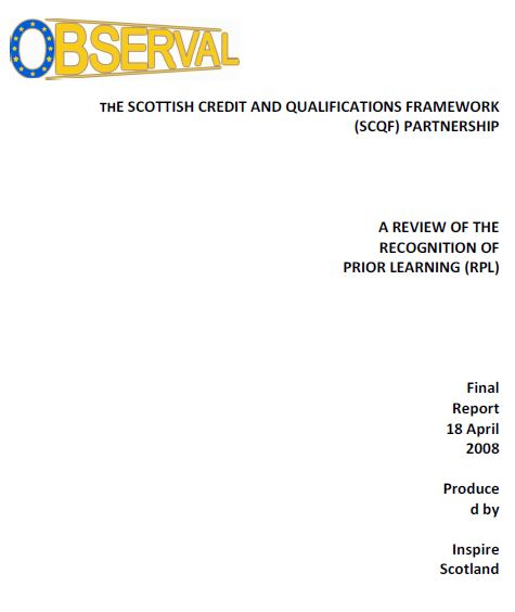 UK - Scottish Credit and Qualifications Framework