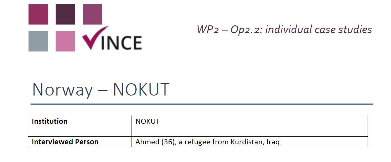 NO - Case Study 1 - Refugee