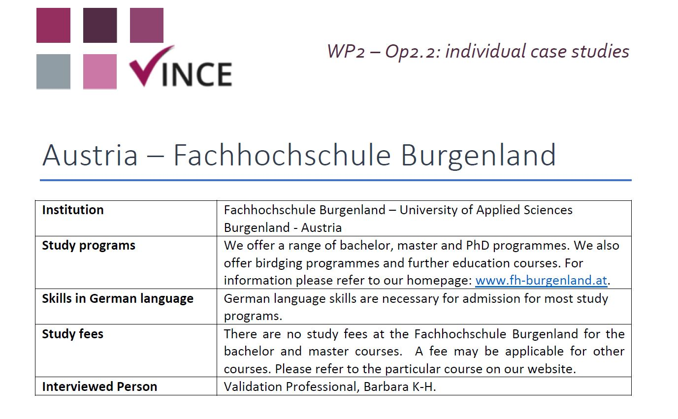 AT - Case Study 12 - University of Applied Sciences Burgenland