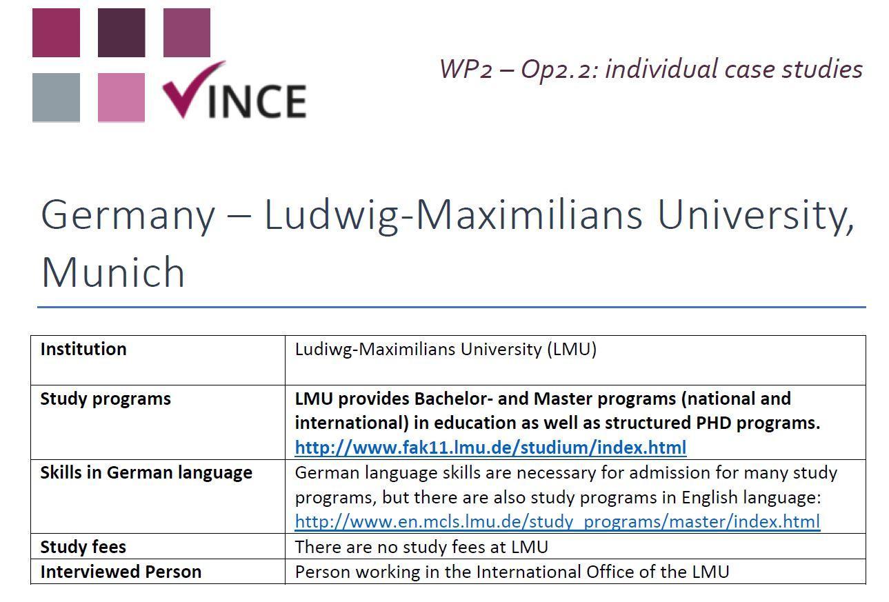 DE - Case Study 02 - Ludiwg-Maximilians University (LMU)