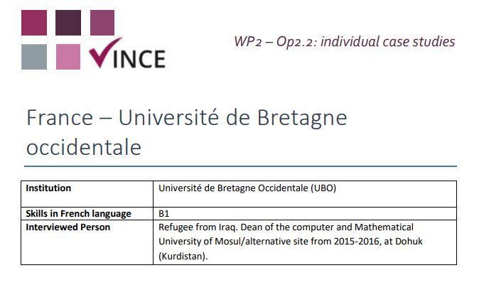 France - Case Study 3 - Refugee